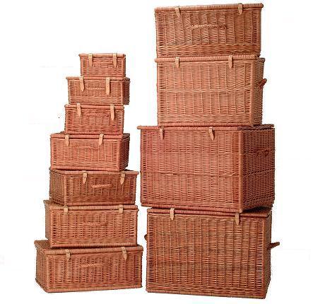 canastas de mimbre para ordenar habitacion
