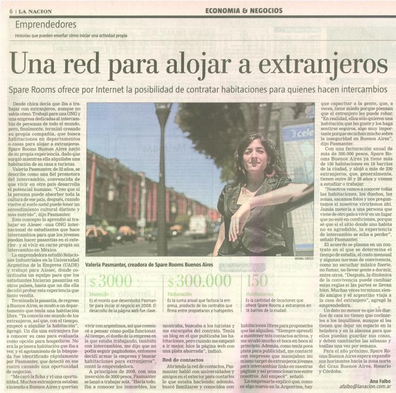 Nota Spare Rooms Buenos Aires Diario La Nacion - copia